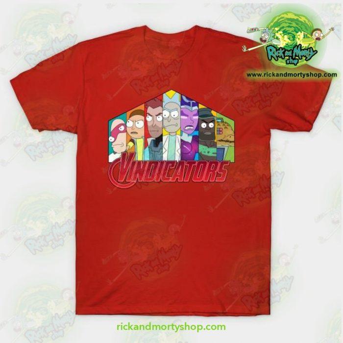 Rick & Morty Vindicators T-Shirt Red / S T-Shirt