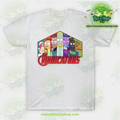 Rick & Morty Vindicators T-Shirt White / S T-Shirt