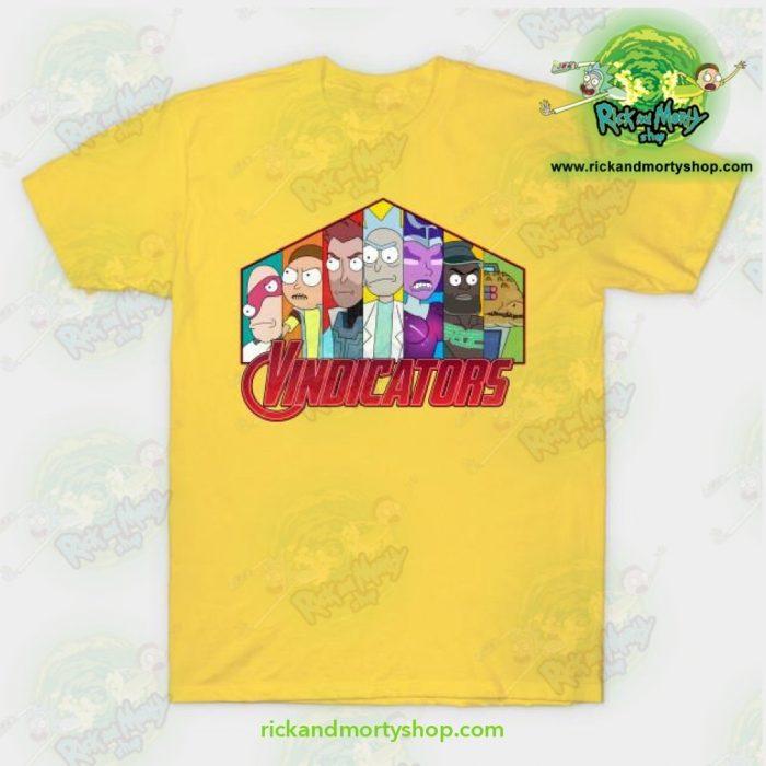 Rick & Morty Vindicators T-Shirt Yellow / S T-Shirt