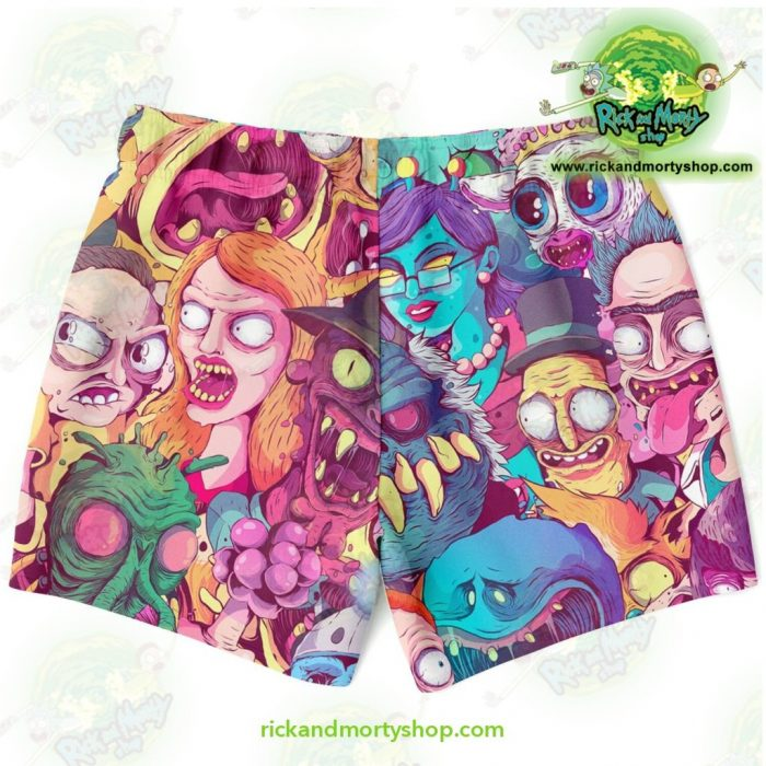 Rick & Morty Watercolor Swim Trunk Trunks Men - Aop
