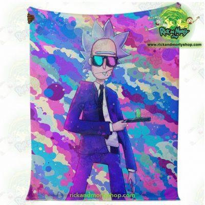 Rick Sanchez 3D Blue Microfleece Blanket Premium - Aop