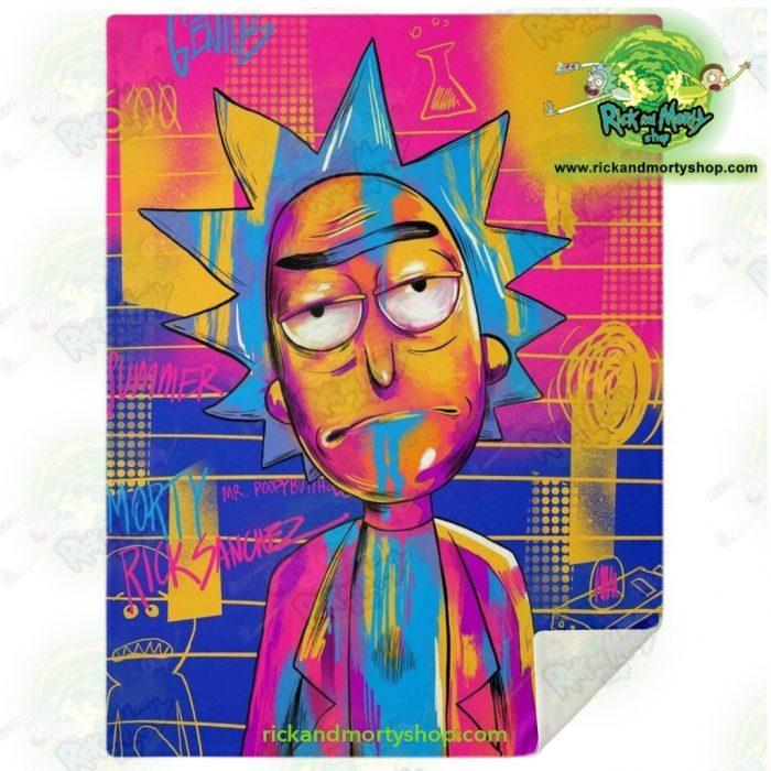 Rick Sanchez 3D Colorfull Microfleece Blanket M Premium - Aop