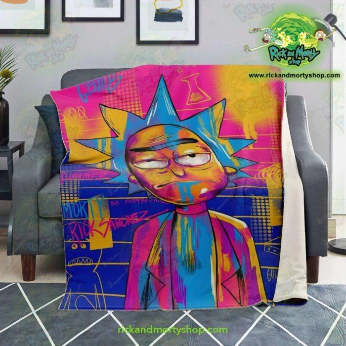Rick Sanchez 3D Colorfull Microfleece Blanket Premium - Aop
