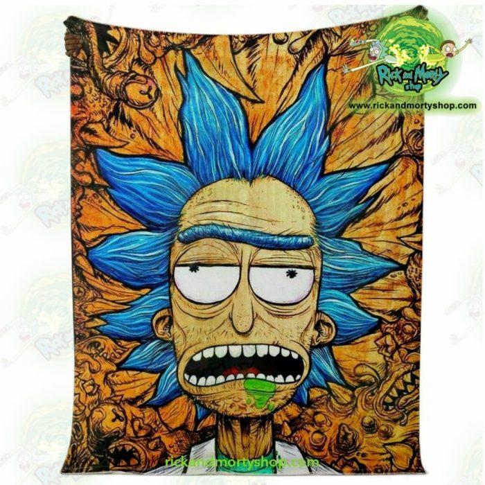 Rick Sanchez 3D Face Crazy Microfleece Blanket Premium - Aop