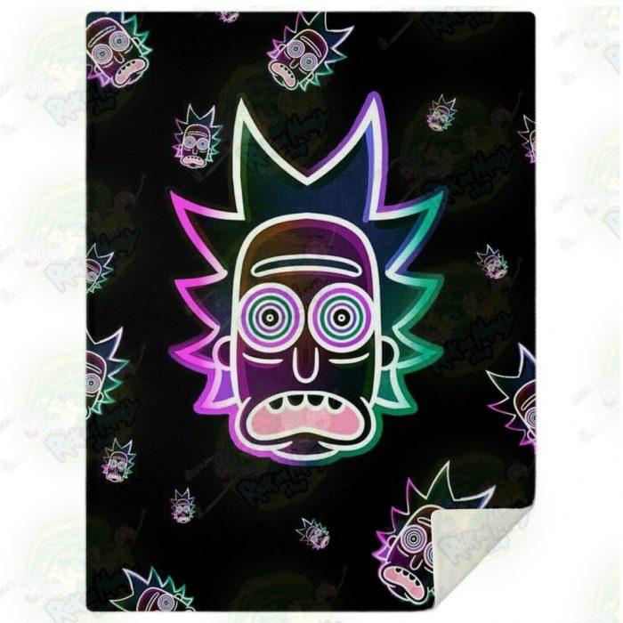 Rick Sanchez 3D Face Galaxy Microfleece Blanket M Premium - Aop