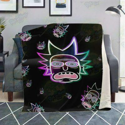 Rick Sanchez 3D Face Galaxy Microfleece Blanket Premium - Aop