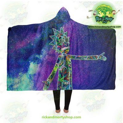 Rick Sanchez 3D Galaxy Hooded Blanket Adult / Premium Sherpa - Aop