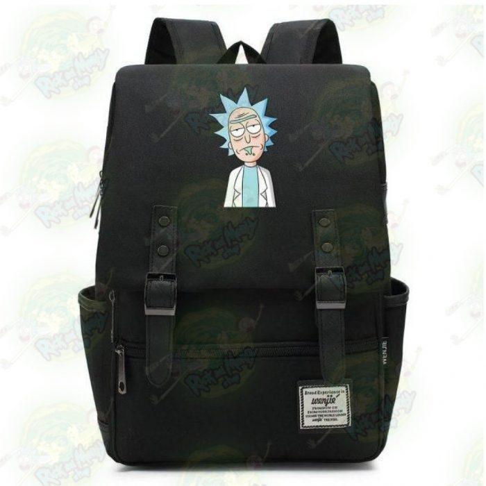 Rick Sanchez Travel Backpack Black / 14 Inch