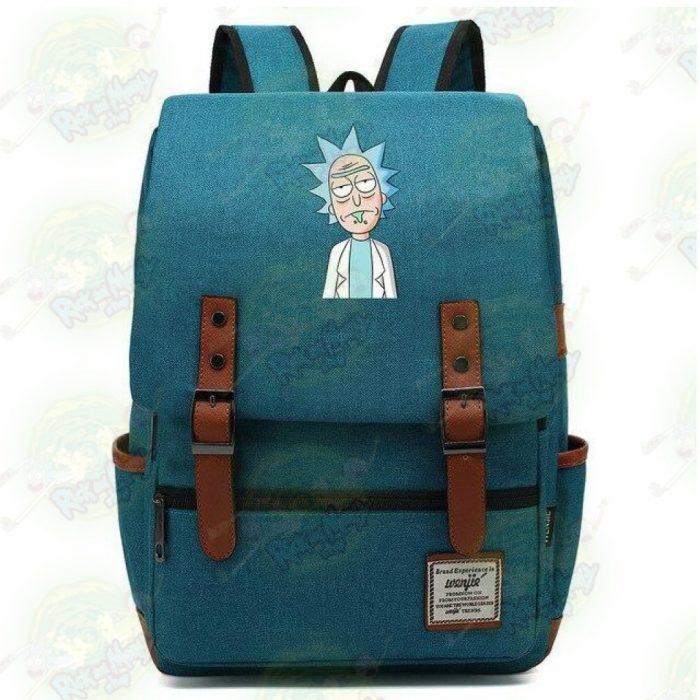 Rick Sanchez Travel Backpack Deep Blue / 14 Inch