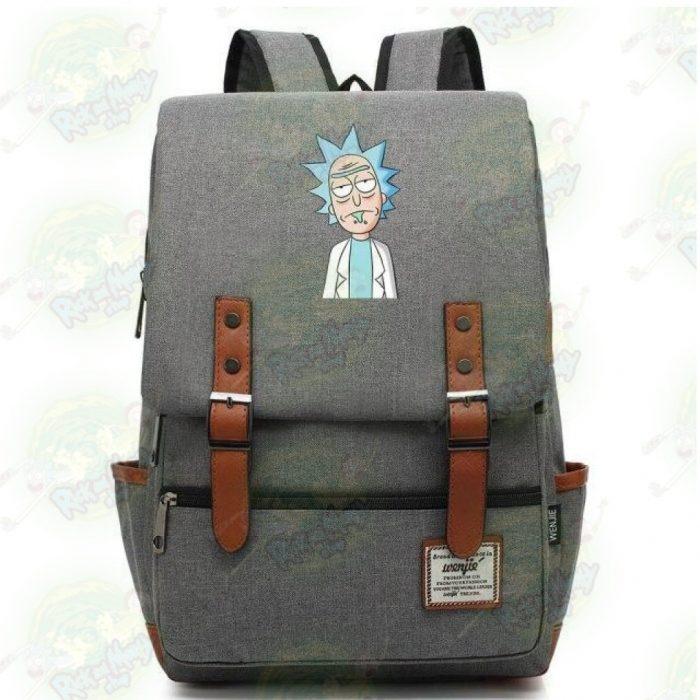 Rick Sanchez Travel Backpack Light Grey / 14 Inch