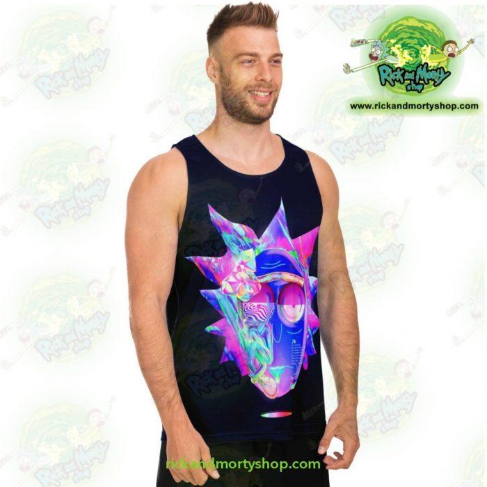Ricks Face Diamond 3D Tank Top Unisex - Aop
