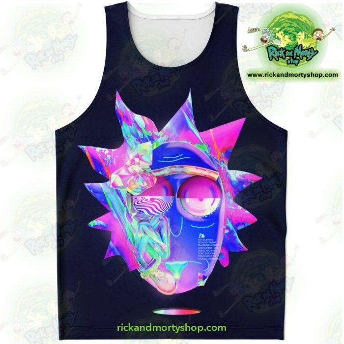 Ricks Face Diamond 3D Tank Top Xs Unisex - Aop