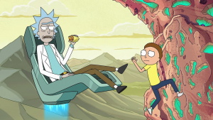 Why does Rick have blue hair?