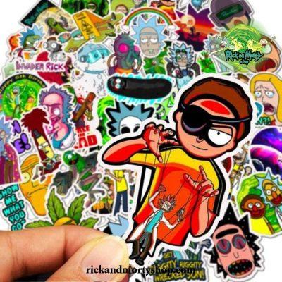 2021 New Design Rick And Morty Waterproof Sticker 10Pcs