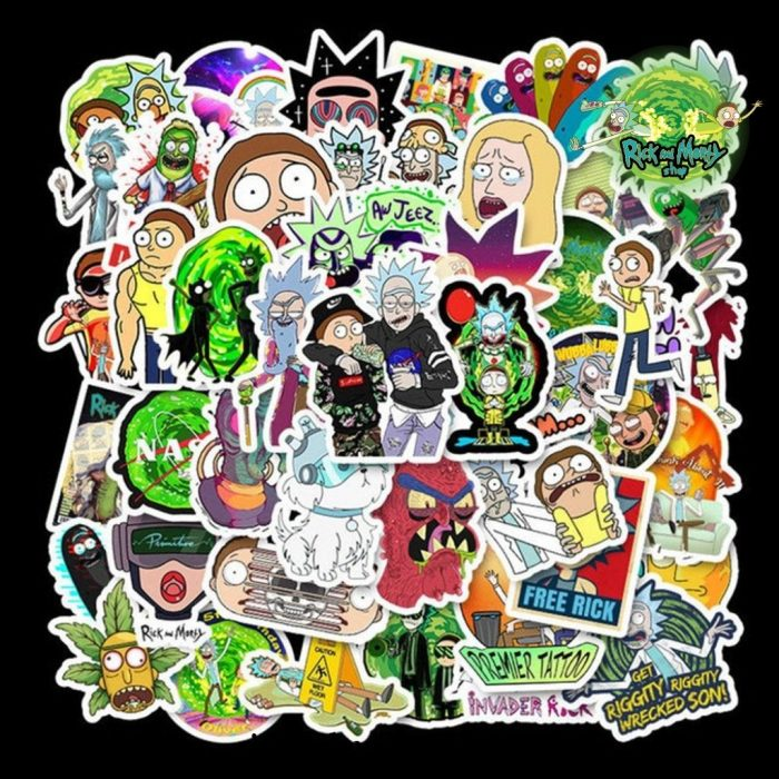 2021 New Design Rick And Morty Waterproof Sticker