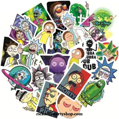50Pcs Cute Rick And Morty Stickers
