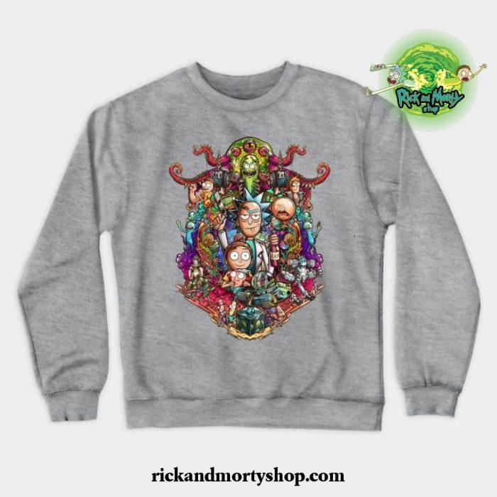 Buckle Up Morty! Crewneck Sweatshirt Gray / S