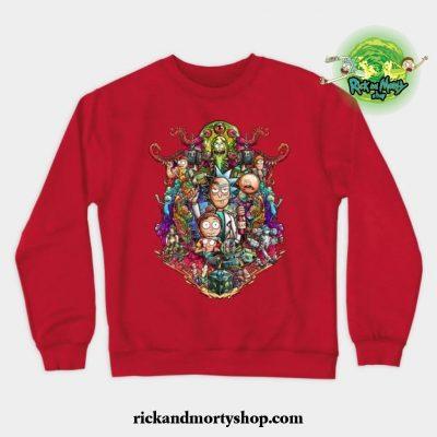 Buckle Up Morty! Crewneck Sweatshirt Red / S