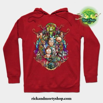 Buckle Up Morty! Hoodie Red / S