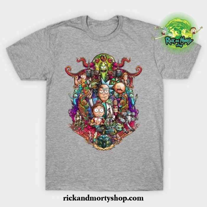 Buckle Up Morty! T-Shirt Gray / S