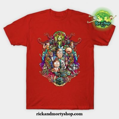 Buckle Up Morty! T-Shirt Red / S
