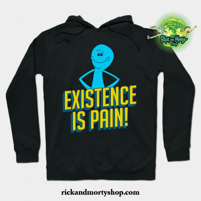 Existence Is Pain Classic Mr. Meeseeks Comic Block Letters Hoodie Black / S