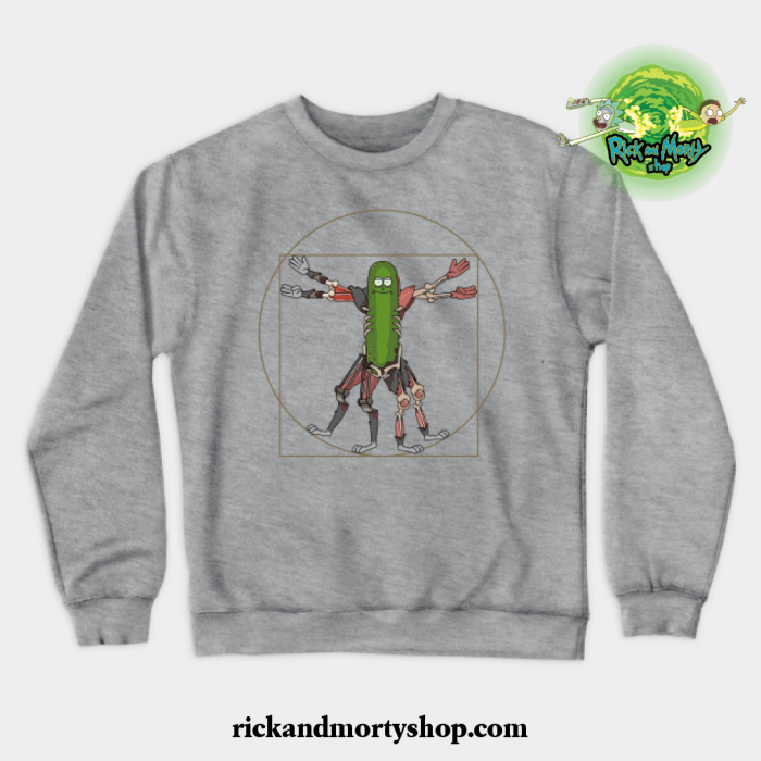Renaissance Pickle Rick Crewneck Sweatshirt Gray / S