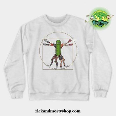 Renaissance Pickle Rick Crewneck Sweatshirt White / S