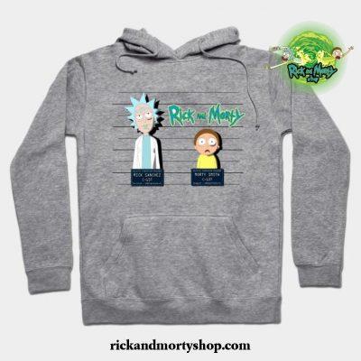 Rick And Morty Mugshot Hoodie Gray / S