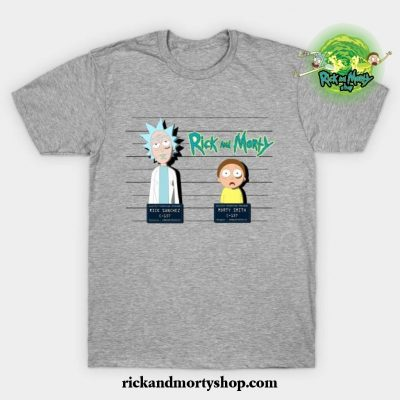 Rick And Morty Mugshot T-Shirt Gray / S