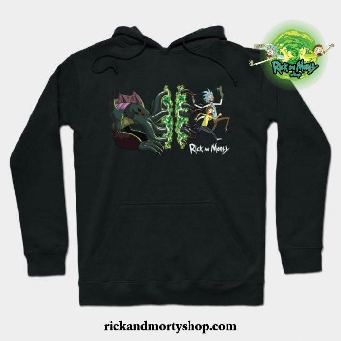 Rick _ Morty_S Cthulhu Portal Hoodie Black / S