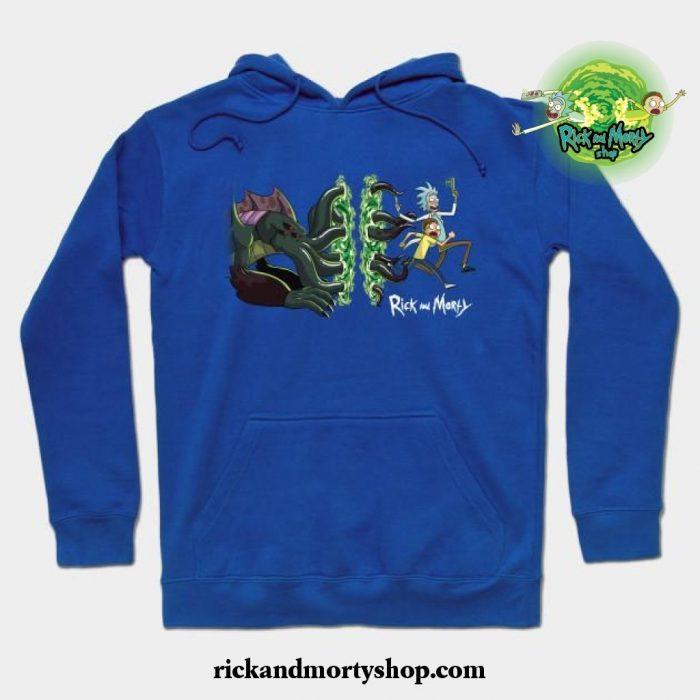 Rick _ Morty_S Cthulhu Portal Hoodie Blue / S