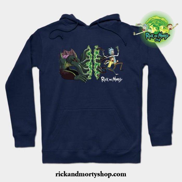 Rick _ Morty_S Cthulhu Portal Hoodie Navy Blue / S