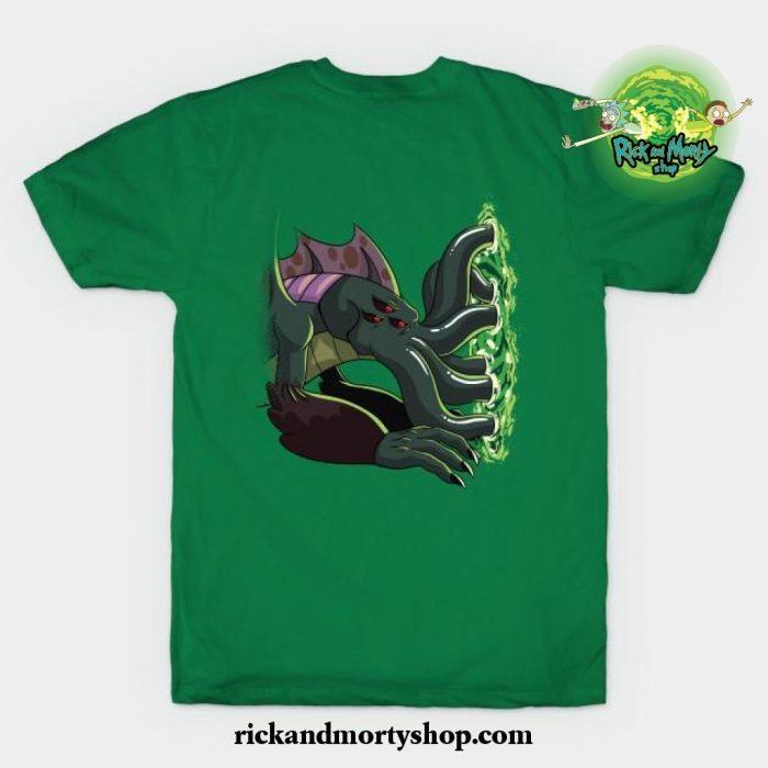 Rick _ Morty_S Cthulhu Portal T-Shirt Green / S