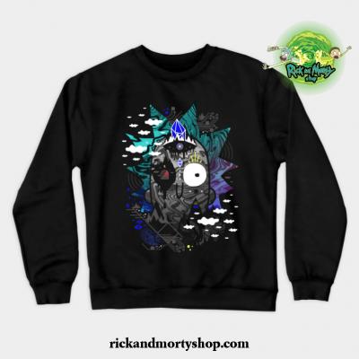 Rick Wrecked Crewneck Sweatshirt Black / S