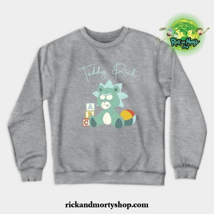 Teddy Rick Crewneck Sweatshirt Gray / S