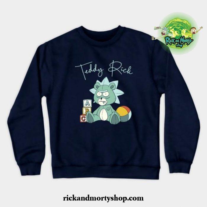 Teddy Rick Crewneck Sweatshirt Navy Blue / S