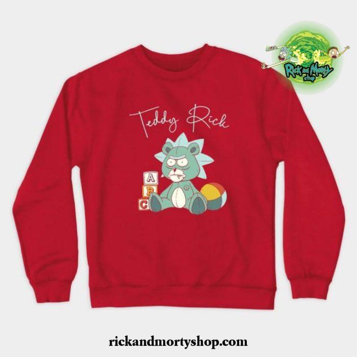 Teddy Rick Crewneck Sweatshirt Red / S