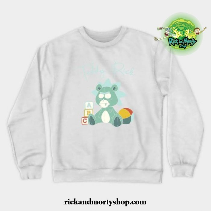 Teddy Rick Crewneck Sweatshirt White / S