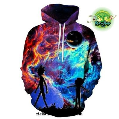 Winter Hot Galaxy Rick And Morty 3D Hoodie