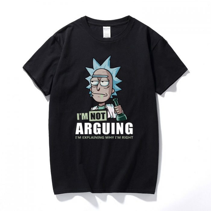 Rick and Morty I'm Not Arguing T-Shirt Black