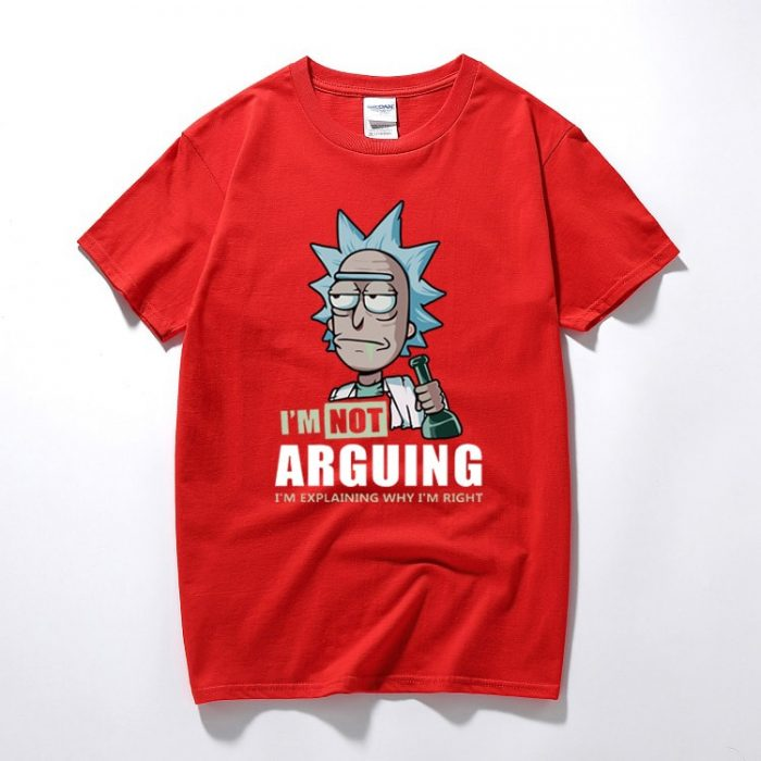 Rick and Morty Im Not Arguing T Shirt Red - Rick And Morty Shop