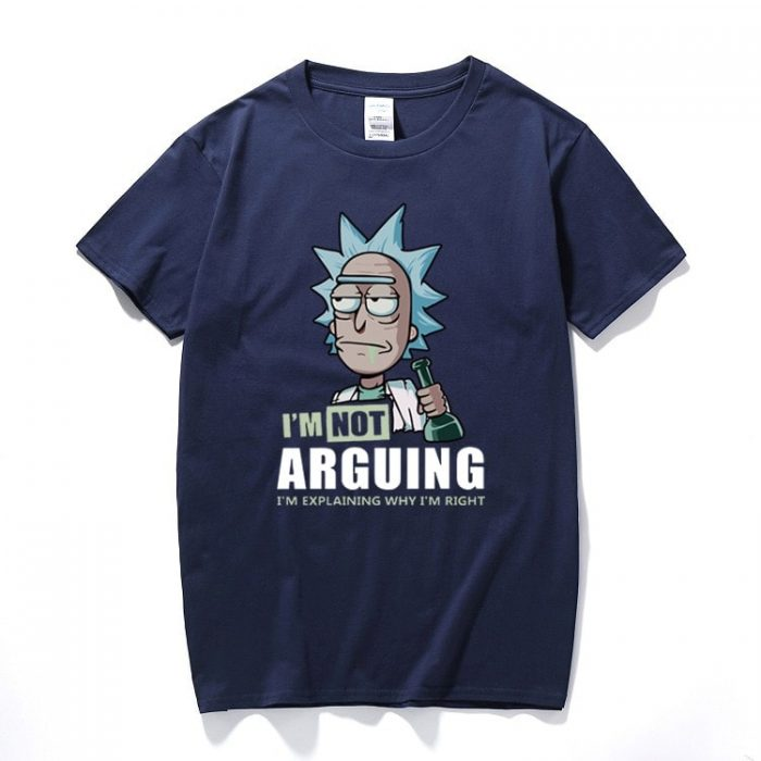 Rick and Morty Im Not Arguing T Shirt navy blue - Rick And Morty Shop