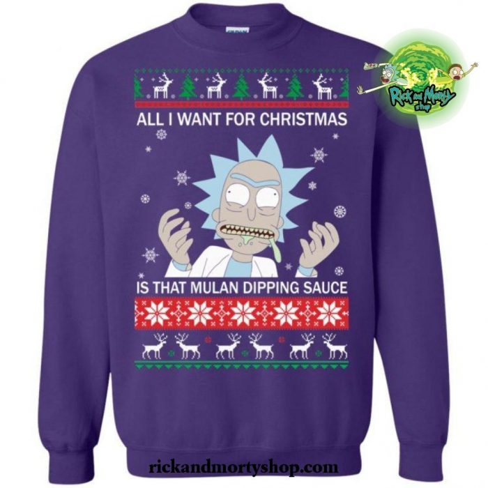 All I Want For Christmas Is That Mulan Dipping Sauce Sweater S / Blue