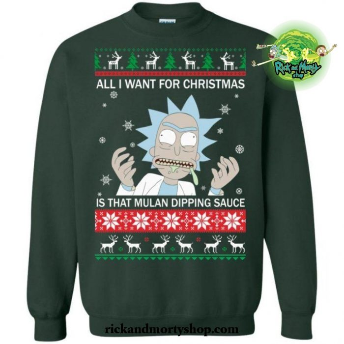 All I Want For Christmas Is That Mulan Dipping Sauce Sweater S / Green
