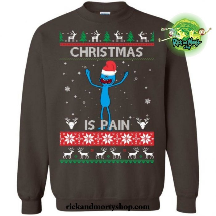Christmas Is Pain Rick And Morty Sweater S / Green