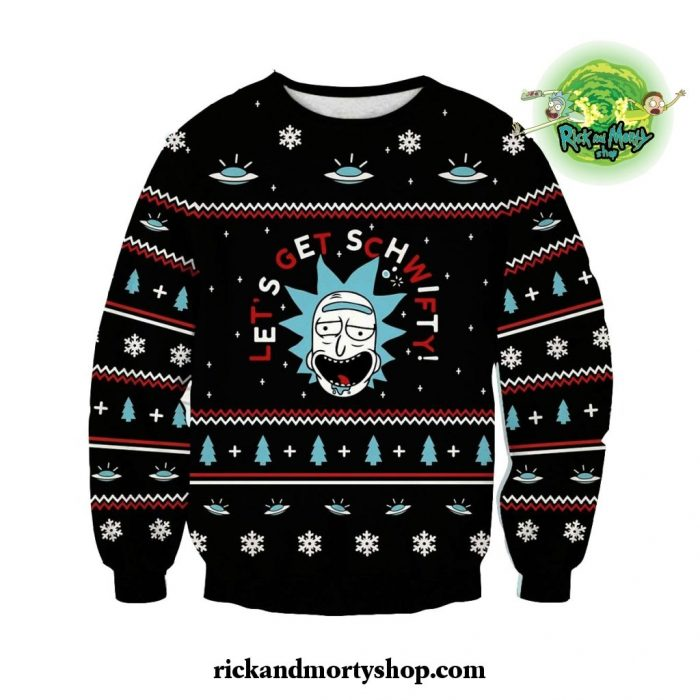 Rick And Morty Sweater - Let Schwifty Christmas Style