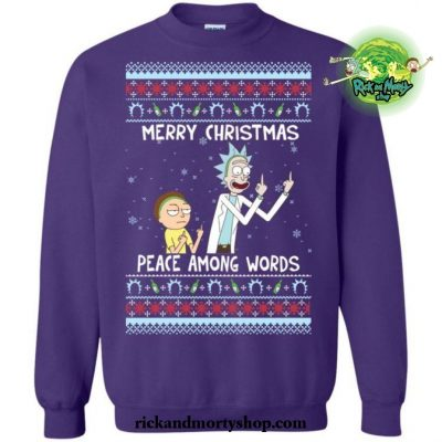 Rick Morty Merry Christmas Peace Among Words Sweater