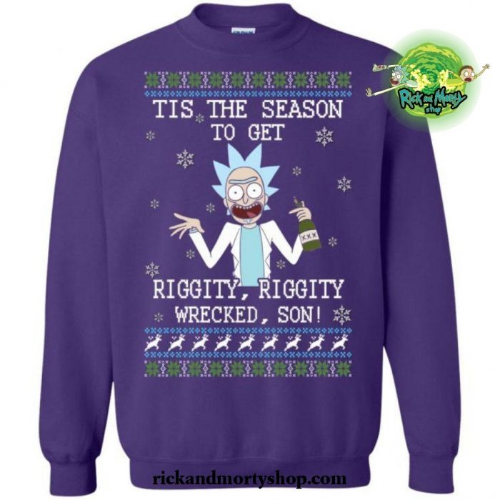 Tis The Season To Get Riggity Wrecked Son! Sweater S / Blue