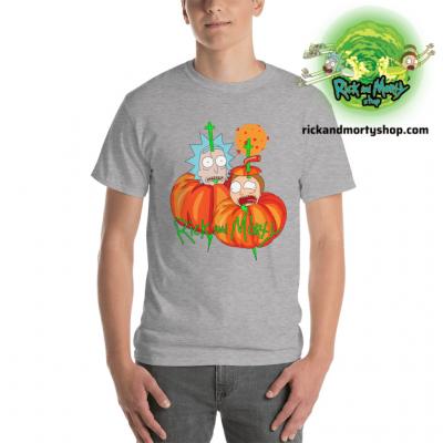 R&m Halloween T-Shirt / Gray S